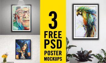 Free Modern Poster Set Mockups