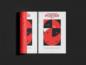 Free Modern Stationery Branding Poster Mockup