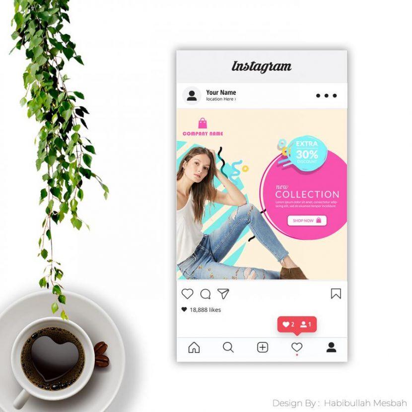 Free PSD Social Media Post Mockup