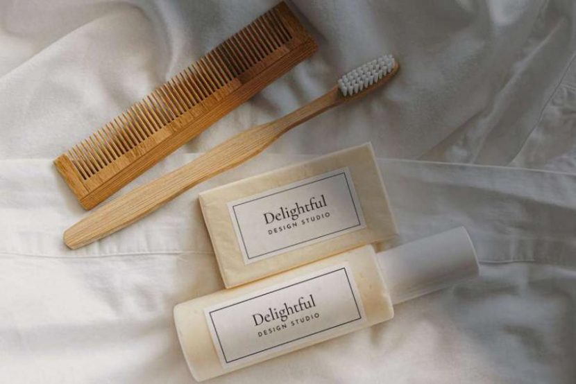 Free Shampoo & Soap Packaging Mockup