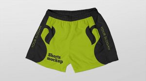 Free Summer Beach Shorts Mockup