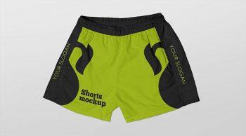 Free Summer Beach Shorts Mockup