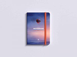 Free Top View PSD Notepad Mockup