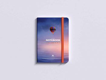 Free Top View PSD Notepad Mockup