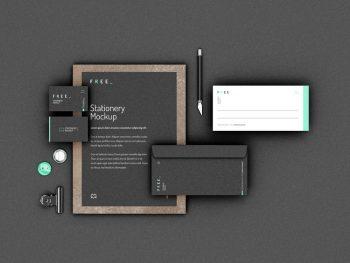 Identity Branding Stationery Free (PSD) Mockup
