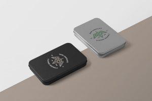 Metal Boxes Free PSD Mockup