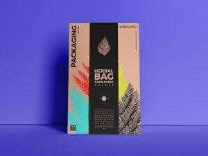 Paper Herbal Bag Packaging Free Mockup