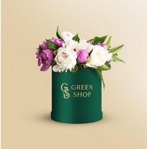 Round Flower Box – Free PSD Mockup