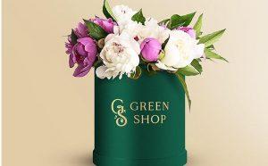 Round Flower Box - Free PSD Mockup