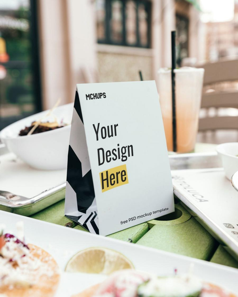 Table Tent Free (PSD) Mockup