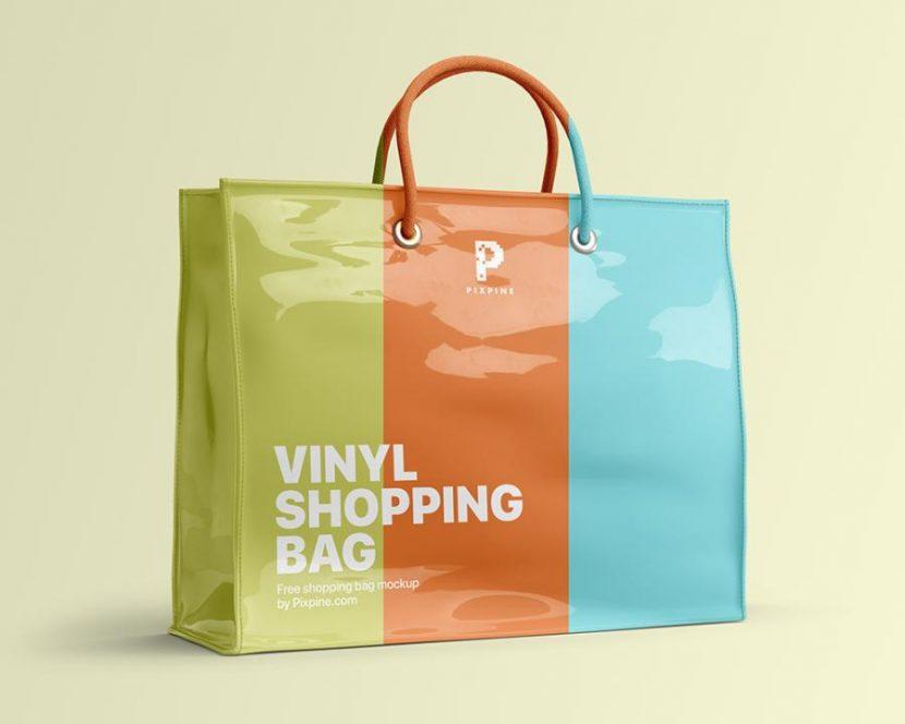 Vinyl Shopping Bag Free Mockup