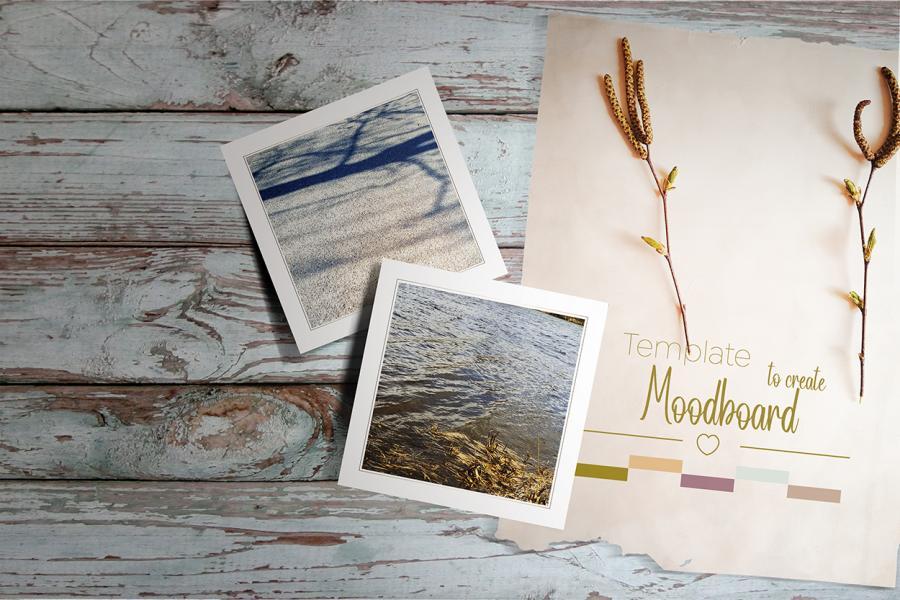 Wood Lover Moodboard Free Mockup