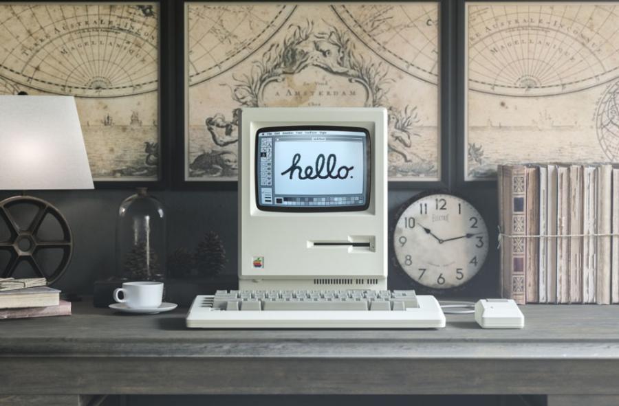 Free 1984 Apple Macintosh Mockup