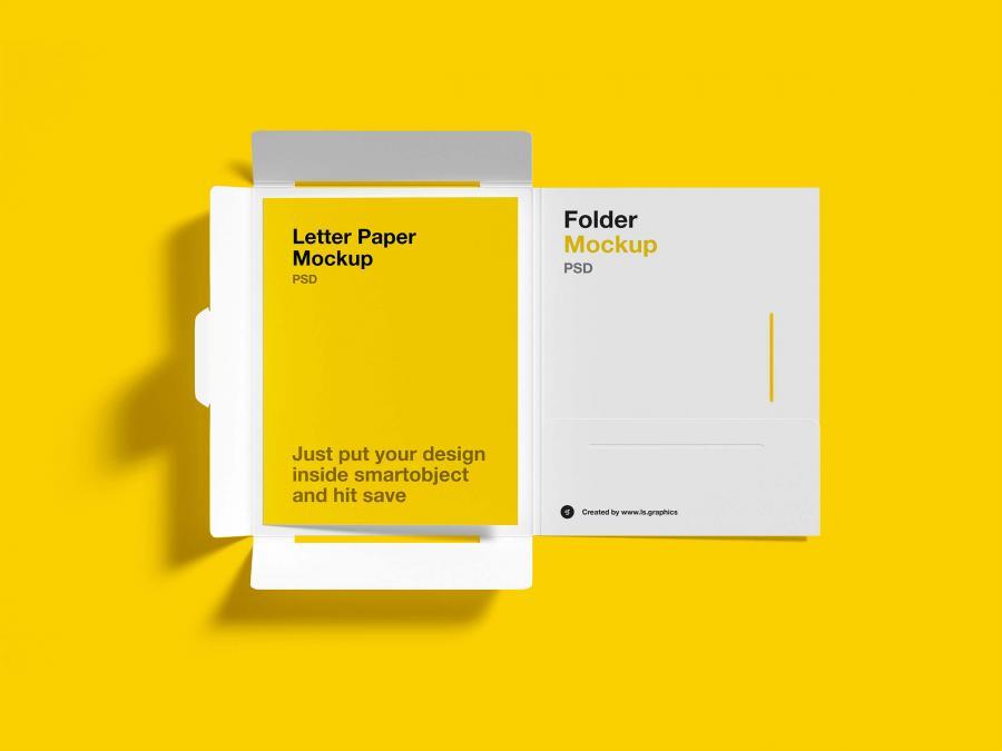 Free Brochure Folder Letter Mockups