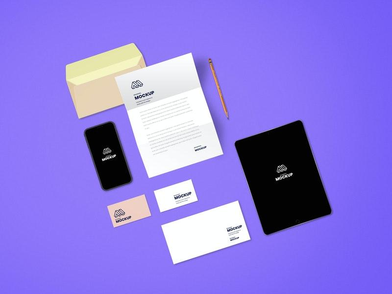 Free Complete Branding PSD Mockup