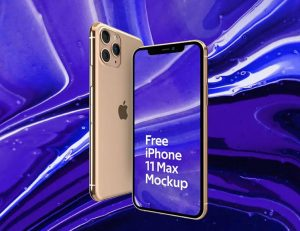 Free iPhone 11 MAX Mockup