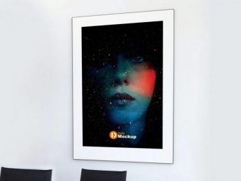 Free Interior Poster Design Mockup