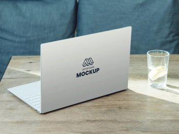 Free Laptop Back Cover Mockup