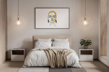 Free Modern interior Poster Mockup