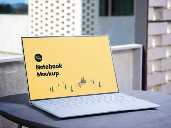 Free Notebook PSD Mockup