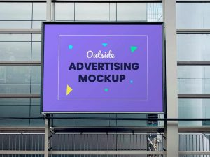 Free Outdoor Advertising Panel Mockup