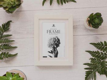 Free (PSD) Botanical Frame Mockup