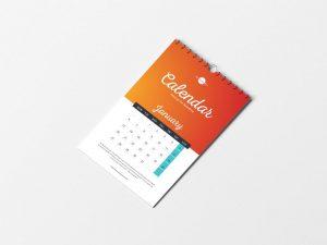 Free PSD Branding Calendar Mockup