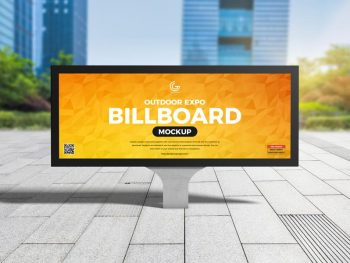 Free (PSD) Outdoor Expo Billboard Mockup