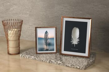Free (PSD) Picture Frames Mockup