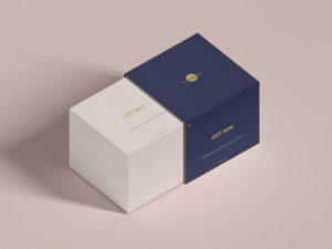 Free (PSD) Slide Gift Box Mockup