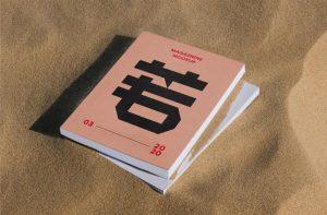 Free (PSD) Thick Magazine Mockup