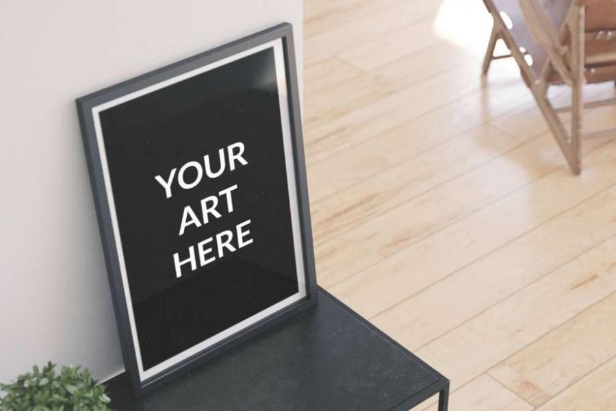 Free (PSD) Vertical Poster Frame Mockup