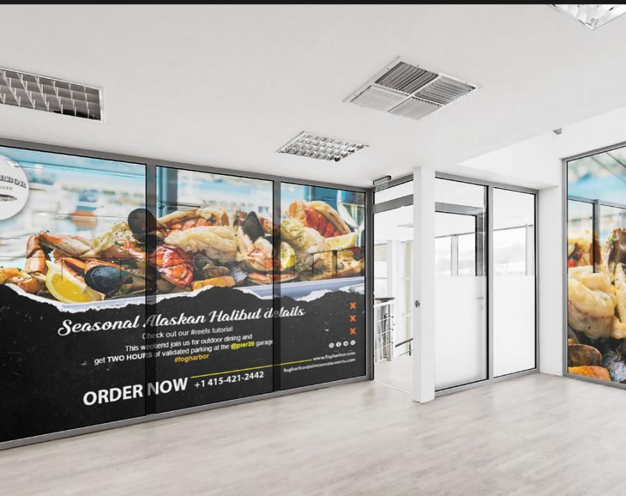 Free Restaurant Indoor Banner Mockup