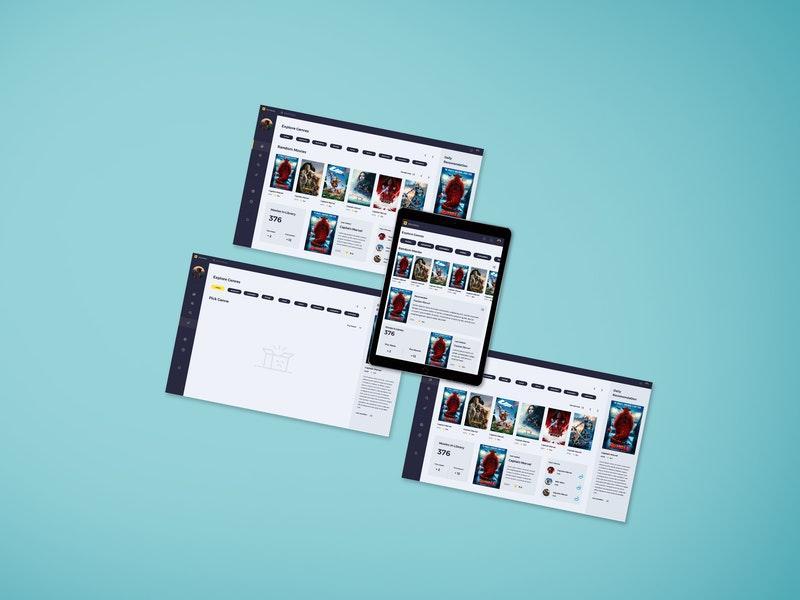 Free Web Screen (PSD) Mockup