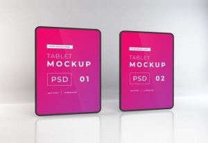 Free iPad Mock-ups Template
