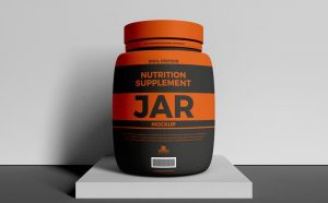 Nutrition Supplement Jar Free Mockup