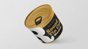 3 Free Round Tin Can Mockups