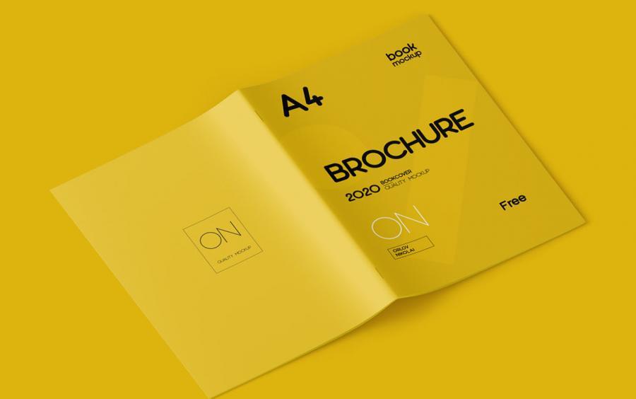 A4 Brochure Free (PSD) Mockup