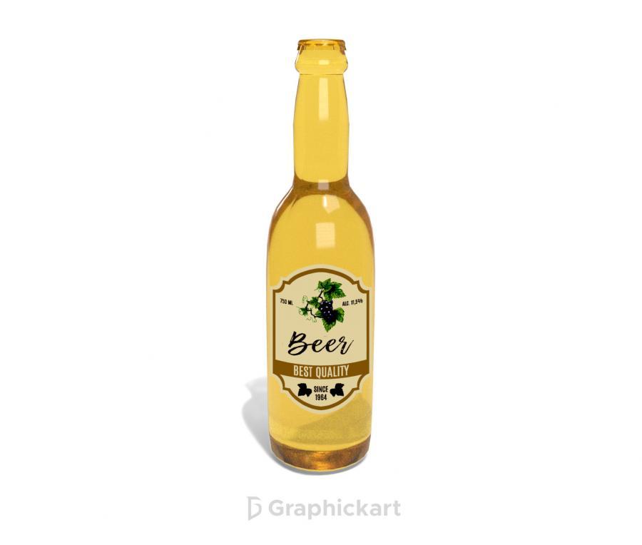 Beer Bottle Free (PSD) Mockup