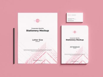 Corporate Identity Stationery Free (PSD) Mockup