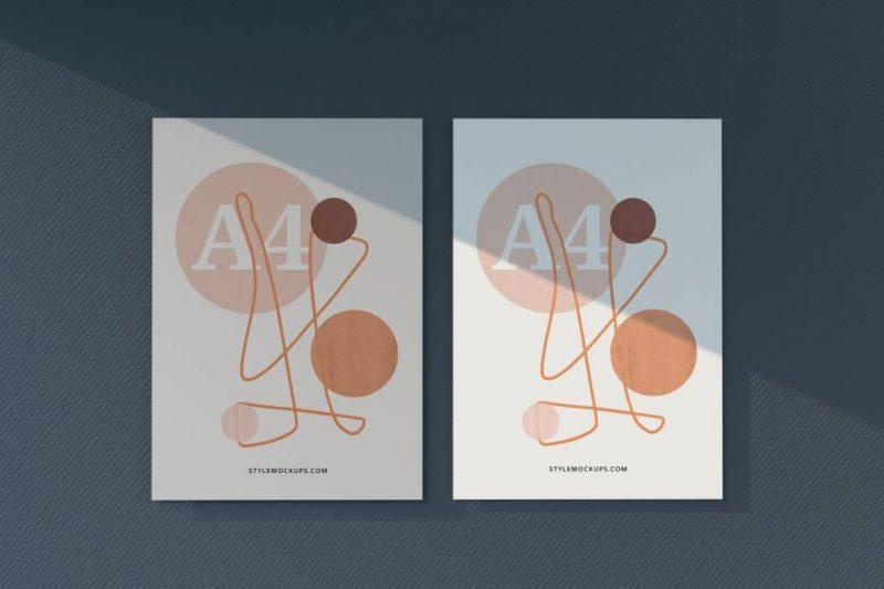 Free A4 Paper Letterhead Flyer Mockup