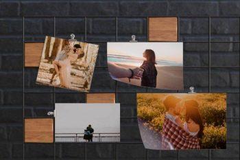 Free Mood Board Flyer / Picture Mockup