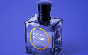 Free (PSD) Perfume for Men Mockup