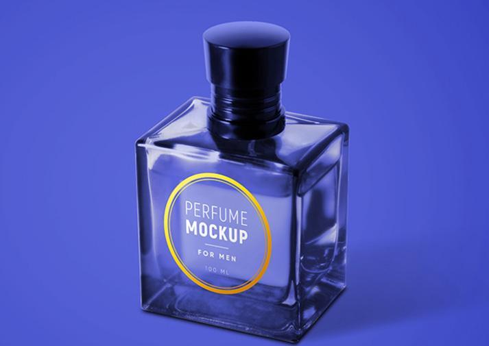 Free (PSD) Perfume for Men Mockup