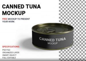 Free (PSD) Short Canned Tuna Mockup