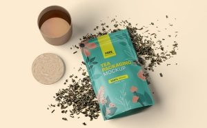 Free (PSD) Tea Branding Packaging Mockup