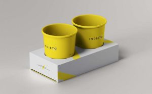 Free Paper Cup Holder Mockup