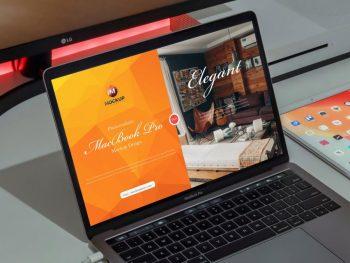 Free Photorealistic MacBook Pro Mockup