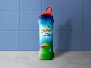 Free Plastic Dishwashing Powder Bottle Mockup