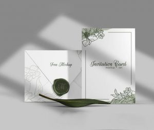 Free (PSD) Elegant Invitation Mockup